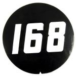 Massey Ferguson Tractor 168 Stick on Emblem (decal only)
